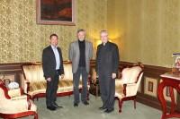 Mons. Joan-Enric Vives s'entrevista amb els representants del Partit Socialdemòcrata d'Andorra