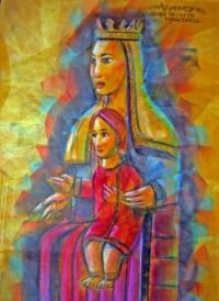 Pintura de Nostra Senyora de Meritxell, per Al Perez