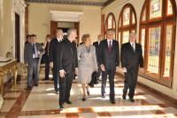 Mons. Vives amb el President Anibal Cavaco Silva i esposa, al Palau episcopal