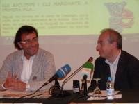 Mn. Pepe Chisvert i el Cònsol Major de Sant Julià de Lòria, Hble. Sr. Carles Álvarez Marfany