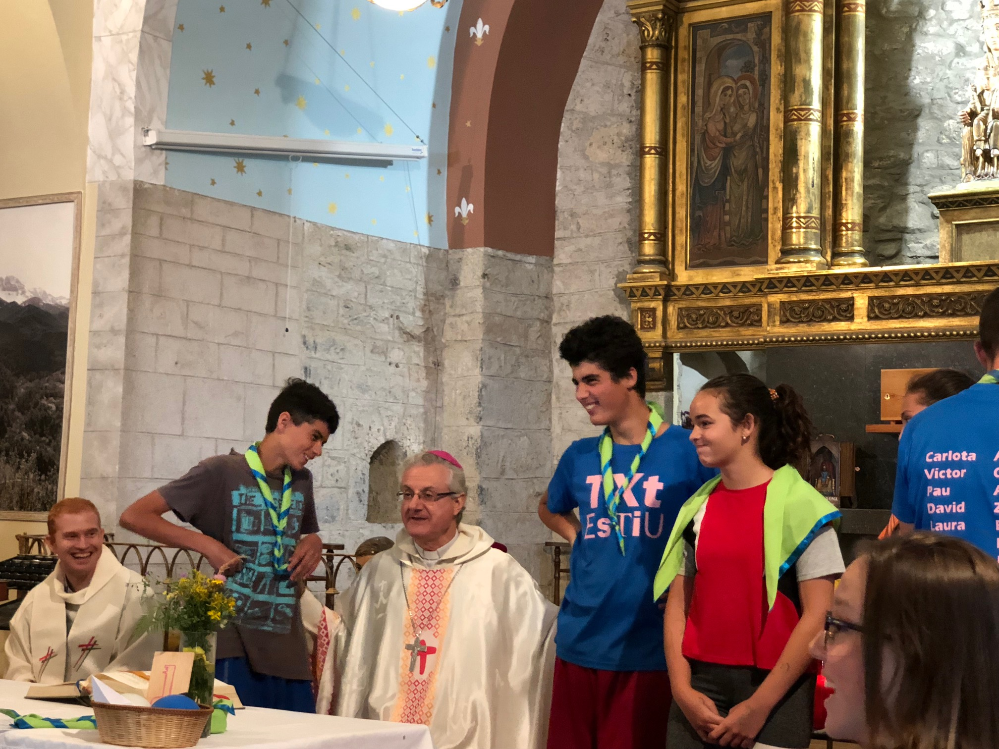 Colònies de joves Txt a Sta. Maria de Bastanist