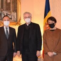 Visita institucional del Jefe de Gobierno y la Síndica de Andorra al Copríncipe Episcopal