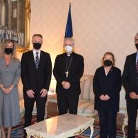El Copríncipe Episcopal recibe los Grupos Parlamentarios Socialdemócrata y Liberal
