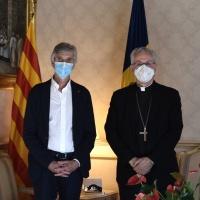 El Consejero de Salud de la Generalitat es recibido por el Arzobispo y Copríncipe de Andorra