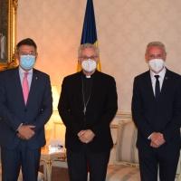 L'Arquebisbe-Copríncep rep la visita  del President i el Vicepresident de la Diputació de Girona