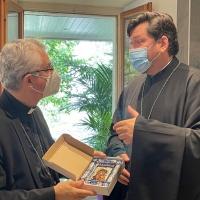 Trobada amb l'Arquebisbe Néstor Sirotenko del Patriarcat de Moscou
