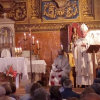 La M. de Déu d'Àneu entronitzada a l'església d'Esterri